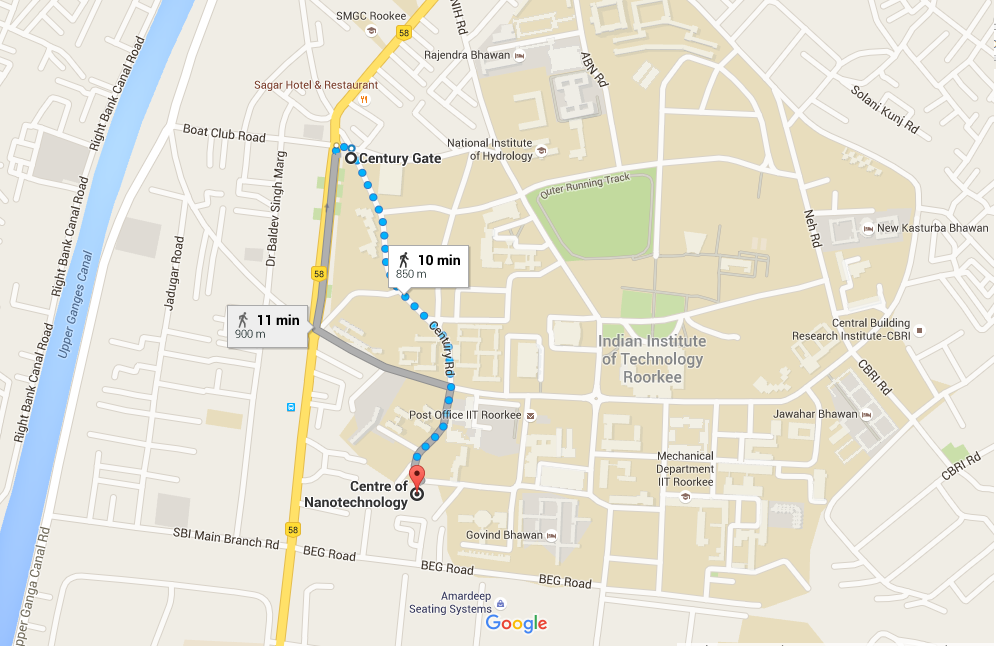 iit roorkee campus map Iitr Campus I Wish Nanobio 2016 iit roorkee campus map