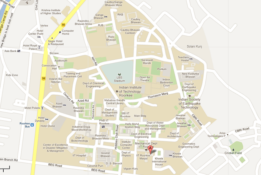 iit roorkee campus map Mtic Xv iit roorkee campus map